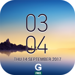 samsung Galaxy Note8 Digital Clock Widget