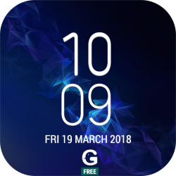 Galaxy S9 Plus Digital Clock Widget App