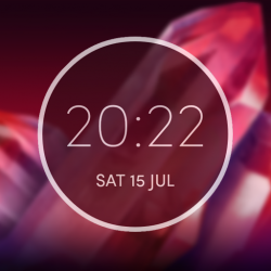 Moto Z2 Play Digital Clock Widget Unlocked