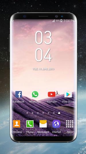 Galaxy S8 Plus Digital Clock Widget