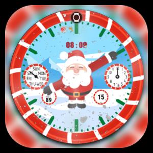 Santa Clock Watch Face