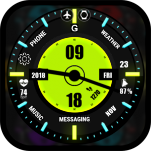 neon dual watch face