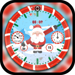 Santa Clock Watch Face