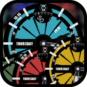 Spokes dual clock watch face